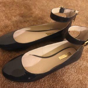Louise et Cie Navy Blue Anklet Flats